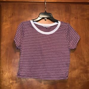 Charolette Russe striped crop top